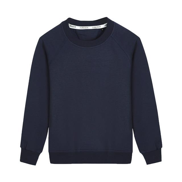 Plain Blank Basic Boys Hoodies Unisex Girls Fleece Navy Blue Round Neck  Pullover Outerwear Sweatshirt Kids Clothes RKH175002 949340da14b