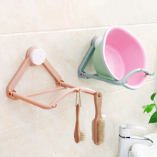 Bathroom Multi-purpose Rack Strong Suction Cup Washbasin Storage Rack Automatic Rebound Folding Wall Hanging Kitchen Wall Hook 304 stainless steel non porous wall hanging kitchen seasoning rack multi purpose household shelves wx8071110