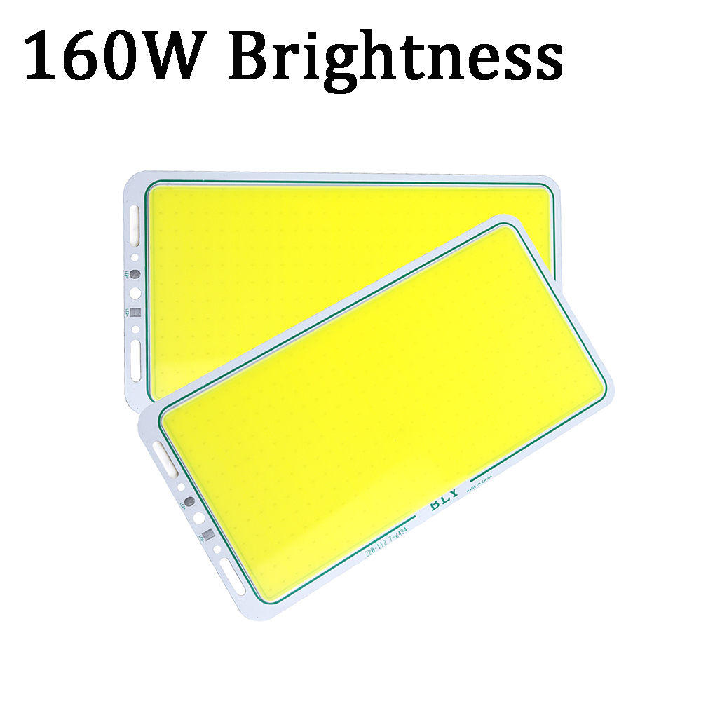 1pcs COB light Source 160W Lamp Chips White Color Bar LED Light Brightness 112*220mm DC12-14V for car bulb DIY lighting UR