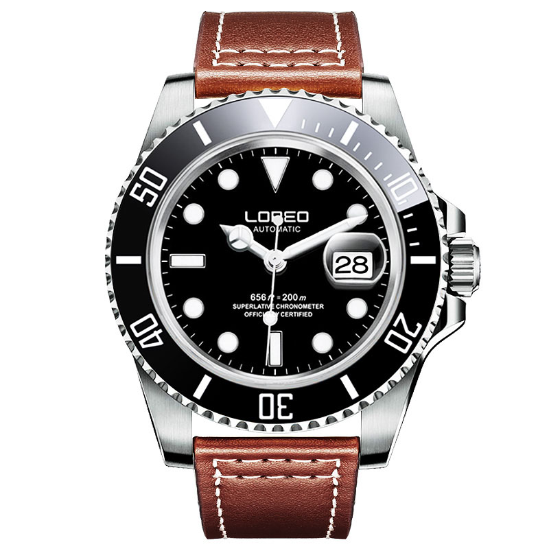 Germany diver watches 200M Waterproof LOREO 9201 automatic Mechanical Watch Men Sapphire Rotating Bezel Luminous Calendar WatchGermany diver watches 200M Waterproof LOREO 9201 automatic Mechanical Watch Men Sapphire Rotating Bezel Luminous Calendar Watch