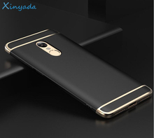 Xinyada Shockproof Case For xiaomi Redmi Note 4 Note4 Full Cover Protection Matte Plating Back PC Hard Cases 3in1 Coque