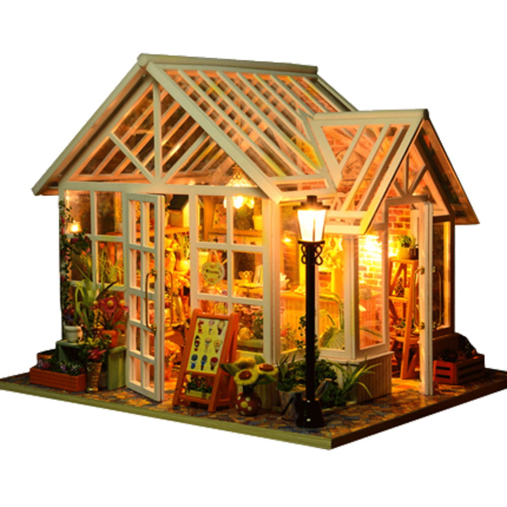 DIY Dollhouse Wooden Doll Houses Miniatures for dolls dollhouse Furniture Kit doll houses Toys for Children Gift Sosa Greenhouse сумка wooden houses w287 2014