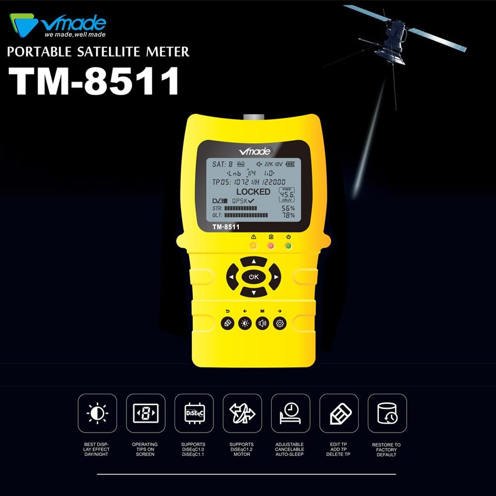 Satlink TM-8511 Satellite Finder HD DVB-S2 haute définition Satfinder WS6916 2.2 pouces MPEG-2/MPEG-4 DVB S2 V8 Sat Finder mètre