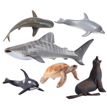 Walrus Turtles Dolphins Whale Shark Sea Lion Killer Animal Model Figurine home decor fairy garden decoration accessories