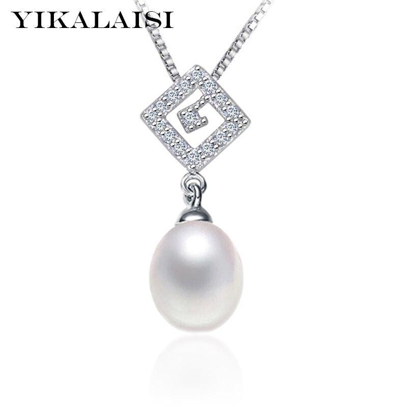 YIKALAISI 2017 papuošalai iš perlų papuošalai iš natūralių gėlavandenių perlų papuošalai - 8-9mm tikras perlas, 925 sidabro papuošalai, moterims