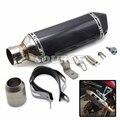 stainless steel & real carbon fiber exhaust Motorcycle Muffler exhaust pipe For Kawasaki ER-6N/F NINJA 650R/ER-6F VERSYS