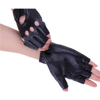 2016 New free shipping New Women's Leather Gloves Half Finger Fingerless Stage Sports Cycling Driving