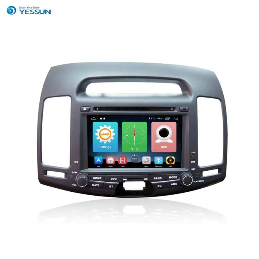 Yessun Car Navigation GPS For Hyundai Elantra 2007~2011 Android HD Touch Screen Player Multimedia Audio Video. yessun for hyundai elantra 2008 2010 android car navigation gps audio video hd touch screen stereo multimedia player no cd dvd