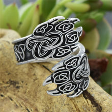 1 pc Bär der pfote Viking Veles Ringe Celtic Knoten Ring(China)