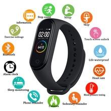 цена M4 Smart Bracelet Heart Rate Blood Pressure Monitor Pedometer Sports Bracelet Pk mi band 3 VS Miband 4 Health Fitness bracelet