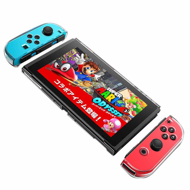 Съемный Кристальный Прозрачный чехол для ПК для Nintendo Switch NS NX Чехлы жесткий прозрачный чехол Защита ультра тонкая сумка
