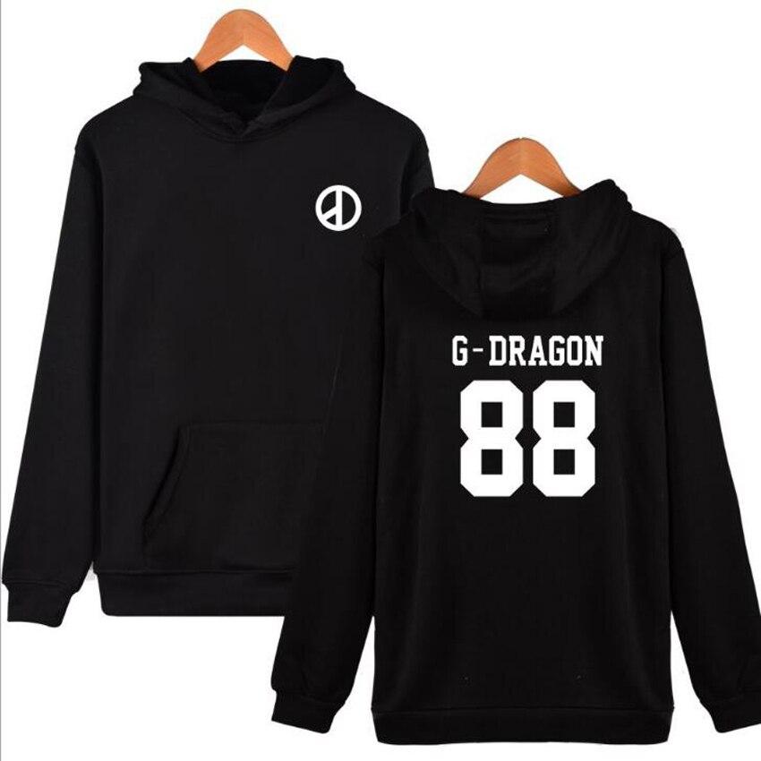 Bigbang big bang bangtan GD G Dragon À Capuche D Lite Kpop T. o. p k-pop coréenne style ulzzang harajuku shirts moletom feminino