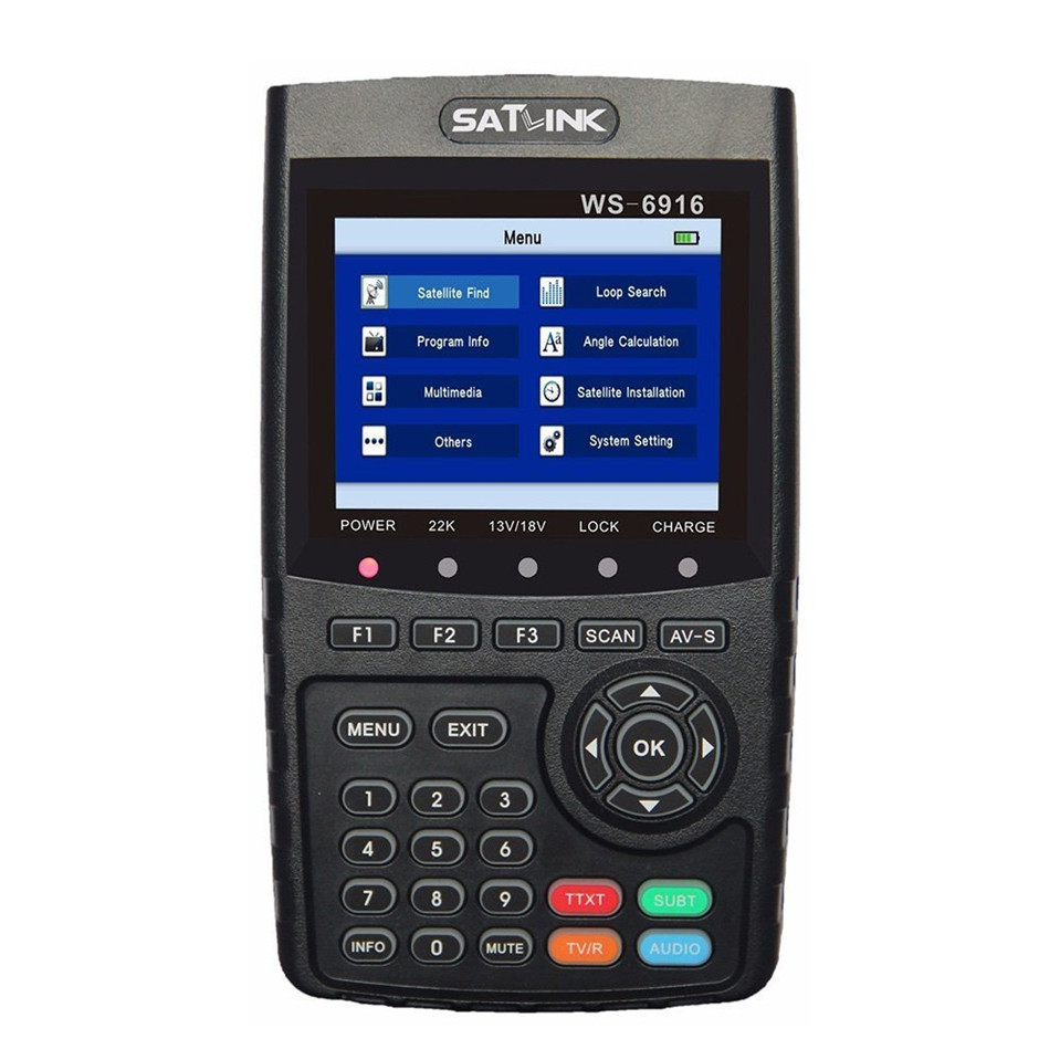 Original Satlink WS 6916 Satellite Finder DVB-S2 MPEG-2/MPEG-4 Satlink WS-6916 High Definition Satellite meter TFT LCD Screen