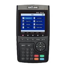 Original satlink ws 6916 del buscador de satélite dvb-s2 mpeg-2/mpeg-4 ws-6916 satlink metros satélite de alta definición tft lcd de pantalla
