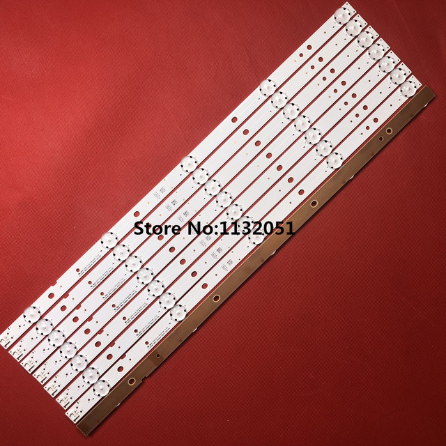 LED شريط إضاءة خلفي 5 مصباح ل LG Innotek 49 بوصة التلفزيون باناسونيك TX 49DS500B TX 49DS500E TZLP151KHAB6 TZLP151KHAB1 TX 49DS500B