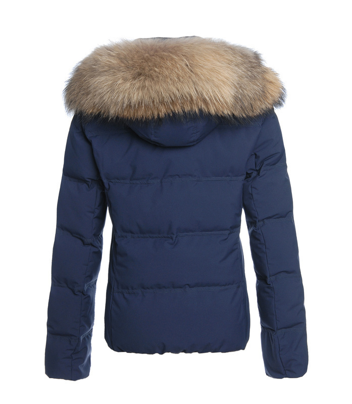 Online Shop Woolrich short parka woman 100% down feather jacket ...