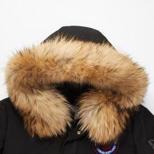 Image 4 - BOSIDENG neue gans unten jacke für männer rauen winter verdicken outwear echtpelz kragen wasserdicht winddicht B80142147
