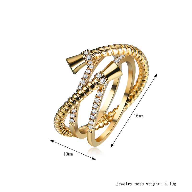 QCOOLJLY 2017 Female New Fashion Crystal Zircon Gold Rings Ladies ...