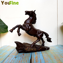 Bronze Horse Sculptures Yangshoes Running Horses to Successful Office Desktop Decorations Chinese Feng Shui