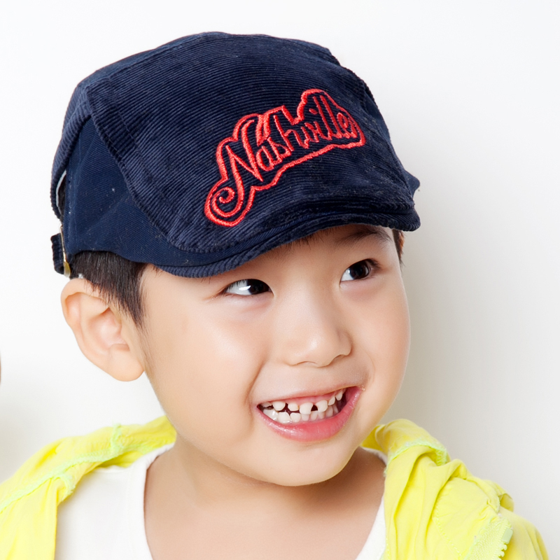 fb15d908321 2018 Fashion New Kid Boys Beret Hat Stripe Letter Design Baby Boy Hats For