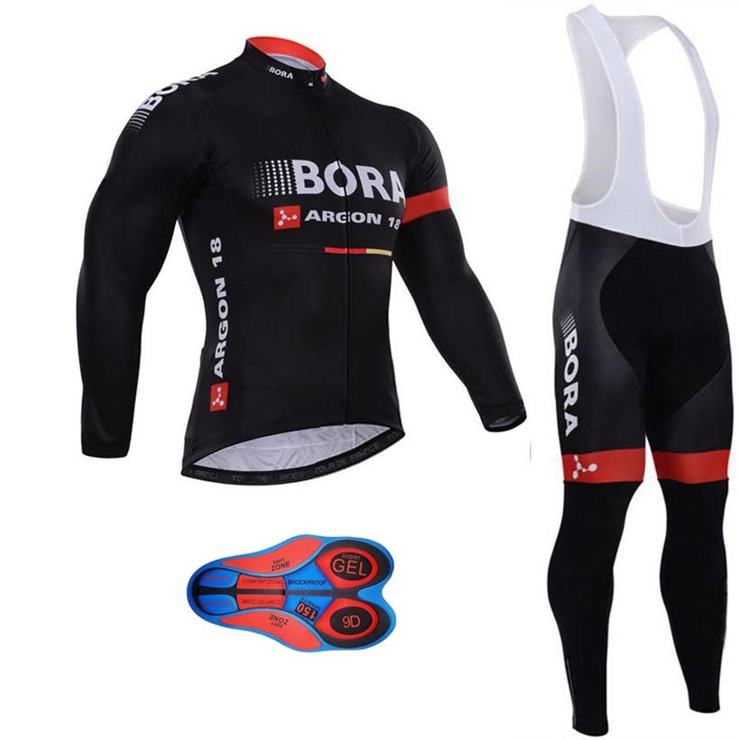 цена на Ropa ciclismo invierno hombre long Sleeve Cycling Jersey set maillot ciclismo winter thermal fleece cycling clothing bib shorts