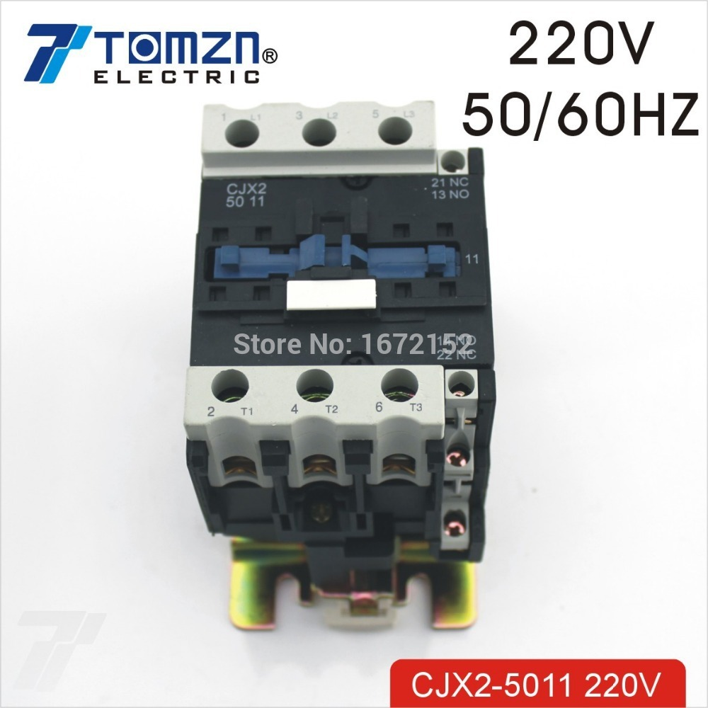 CJX2 5011 AC contactor LC1 50A for 220V 50HZ/60HZ new lp2k series contactor lp2k06015 lp2k06015md lp2 k06015md 220v dc