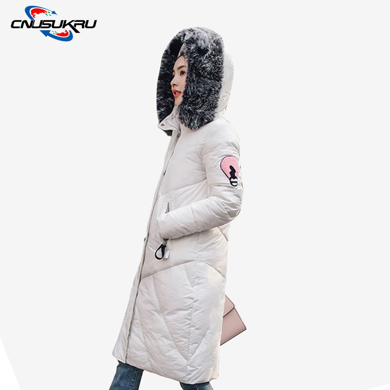 Hot Sale Winter coat woman clothing Large fur collar Jackets Female coat cotton warm wadded jacket parka Appliques Long outwear hot sale winter jacket men fashion cotton coat warm parka homme men s causal outwear hoodies clothing mens jackets and coats