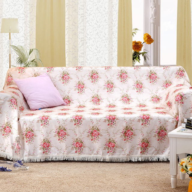 Genial Polyester Cotton Fabric Sectional Printed Sofa Covers Fundas De Sofas Cover  For Couch Sofa Slipcover For
