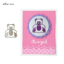 JC 2019 New Arrival Cute Bear Animal Metal Cutting Dies for Scrapbooking DIY Embossing Folder Card Handmade Album Stencil Crafts