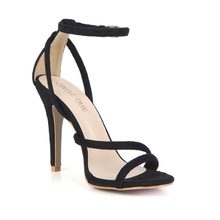 купить Sexy Flock Party Open Toe Stiletto Ankle Strap Women Sandals Sandali Tacco Alto a Spillo Cinturino Alla Caviglia da Sera 5186-9O дешево