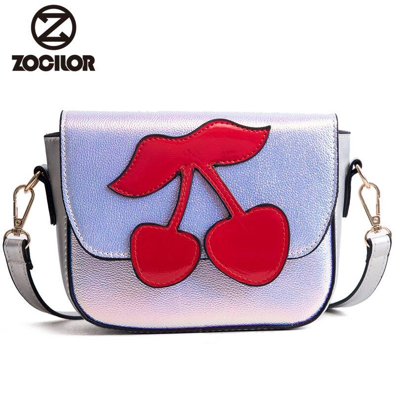 New 2018 Cartoon PU Leather Women Bag Fashion Small Women Messenger Bag Single Strap Shoulder Bag Chain Crossbody Bags