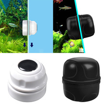 Mini Round Magnetic Aquarium Fish Tank Glass Algae Glass Cleaner Scrubber Floating Clean Brush