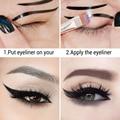 LANBENA 10 PCS Moda Stencil Template Delineador Cartão Delineador Delineador Maquiagem Dos Olhos Set Makeup Brushes Ferramentas Eye Liner