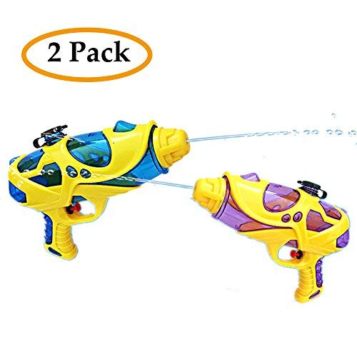 2pcs Water Gun For Children In Summer, Water Pistol Shooters Launcher Gun For Hot Summer Outdoor Beach Pool Swimming Party Favor