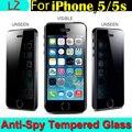 100% Высокое качество премиум настоящее закаленное стекло конфиденциальности анти-шпион защитный кожух Pelicula фильм спс iPhone 5 5S