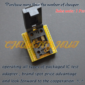 150mil SOP8 to DIP8 programmer adapter FP8 SOP8 SOIC8 test socket Pitch=1.27mm width=3.9mm/6.0mm sop8 to dip8 so8 soic8 enplas ic programming adapter test burn in socket 3 9mm width 1 27mm pitch