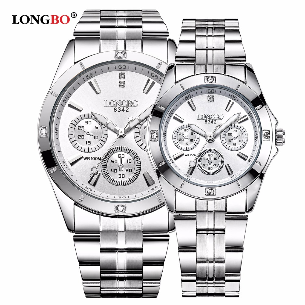 LONGBO Watches Couple Stainless-Steel Sports Brand Men Male Quartz Masculino Leisure title=
