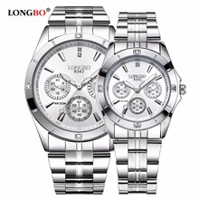 LONGBO Brand Sports Military Unique Design Couple Stainless Steel Band Quartz