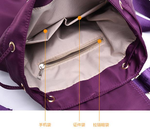 High quality waterproof anti-fouling nylon Backpack women canvas Large capacity travel bagpack women mochila kanken backpack 4