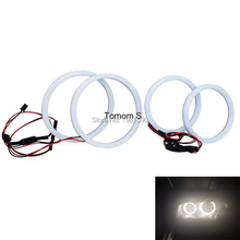 1set Cotton Light Angel eyes Halo ring for BMW E92 white super bright car accessories headlight kit 2x100mm 2x120mm