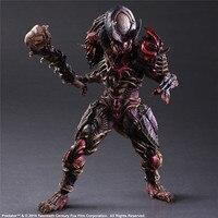 Play Arts 28cm Alien vs. Predator Scar Predator Action Figure Model Toy