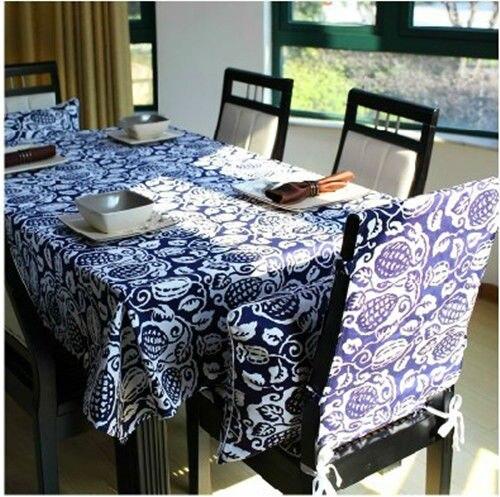 새로운 도착 파란색과 흰색 도자기 식탁보 중국 전통 스타일의 테이블 천으로 / 테이블과 의자 파티