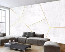 beibehang Custom wallpaper 3d stereo photo mural Nordic high-end atmospheric marble gold texture geometric background wall paper