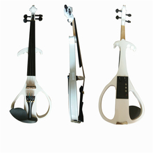 Full Size 4/4 Silent Electric Violin Solid Wood Maple with Bow Hard Case Tuner Headphone Rosin Audio Cable Strings handmade new top model art 5 strings red 4 4 electric violin streamline case rosin bow included string instrument