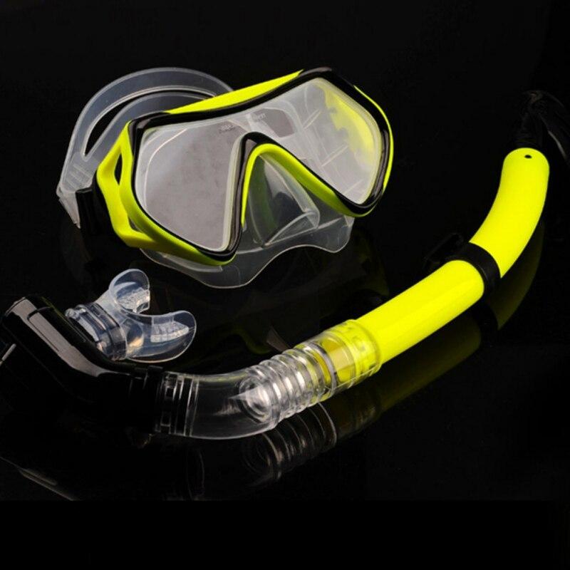 Snorkeling Set Liquid Silicone Scuba Diving Equipment Dry Snorkel 1526+S16 Men Women Diving Swimming Water Sports Equipment