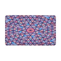 Space Galaxy Tile with Mandalas Bohemian Boho Indoor Doormat Non Slip Front Entrance Door Mat Rug