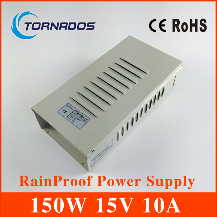 cctv power supply 150W 15V 10A rainproof power supply ac dc converter outdoor Switching power supply smps FY-150-15 graupner polaron smps power supply black switching power supply free shipping