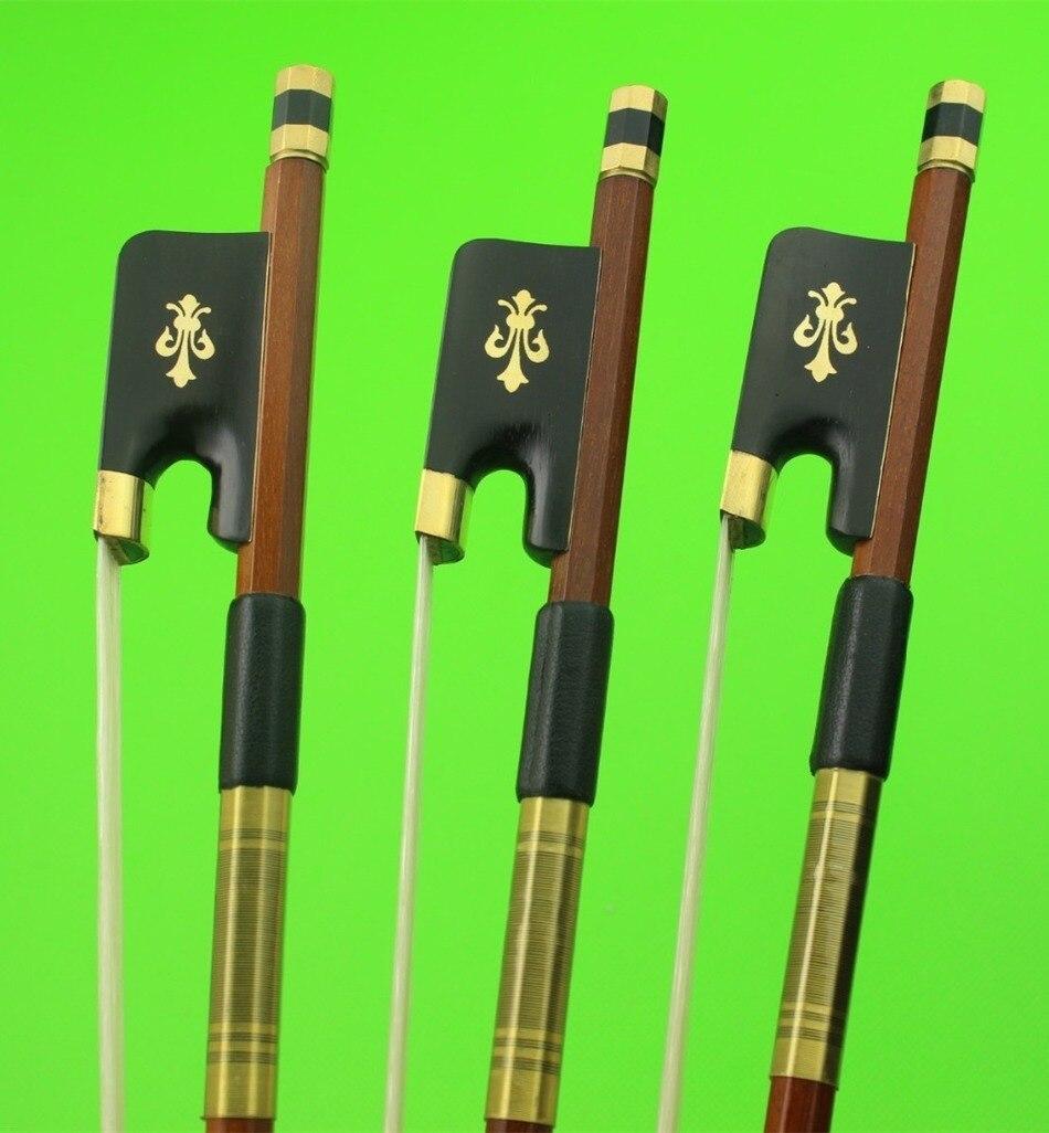 3ピース新しい高品質ブラジル木チェロ弓4/4フルサイズエボニーフロッグ  グループ上の スポーツ & エンターテイメント からの バイオリン用パーツ & アクセサリー の中 1