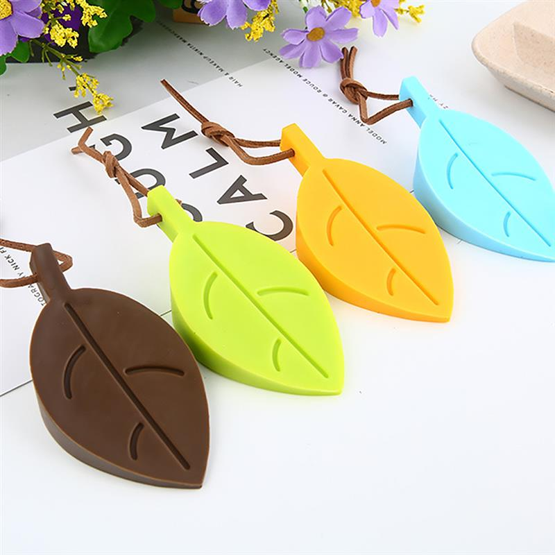4pcs Cute Cartoon Leaf Style Door Stopper Silicone Door Stop Safety For Baby Home Decoration cute marshmallow style silicone back case for iphone 5 5s yellow white
