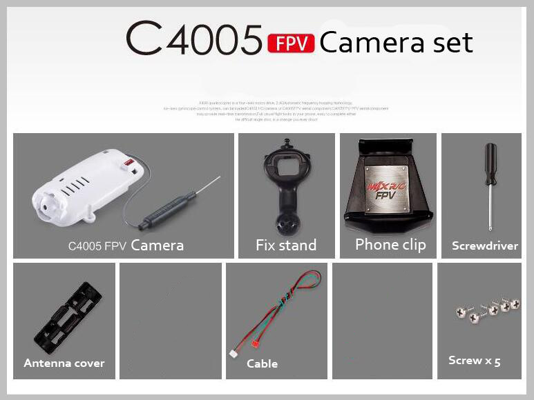 ФОТО Mjx R/C Technic C4005 FPV camera set 30W 2.4G camera for Helicopter T10 T55 T57 T64
